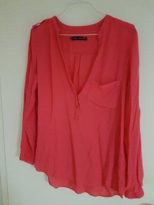 Pinke Bluse Zara kaum getragen