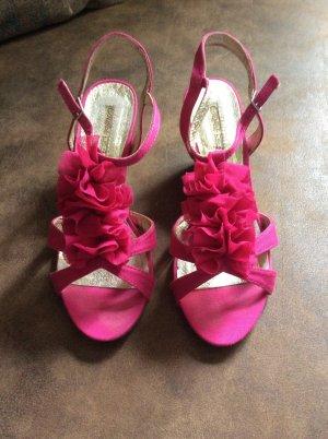 Buffalo London Wedge Sandals magenta
