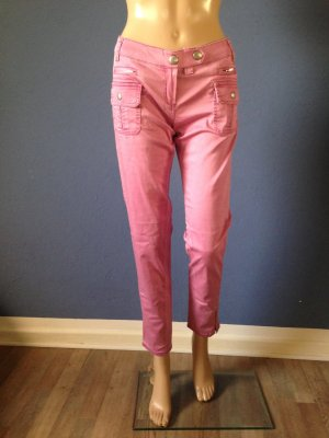 Mango Pantalon rose fluo-rose coton