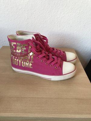 Juicy Couture Zapatillas altas rosa-color oro