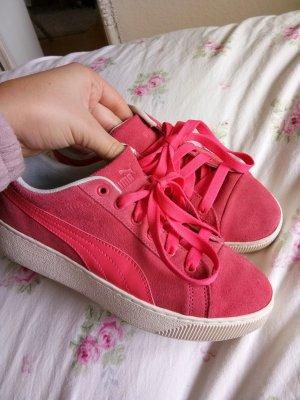 Pinke coole Puma Schuhe mit dicker Sohle