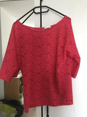 pinke Crochet-Bluse