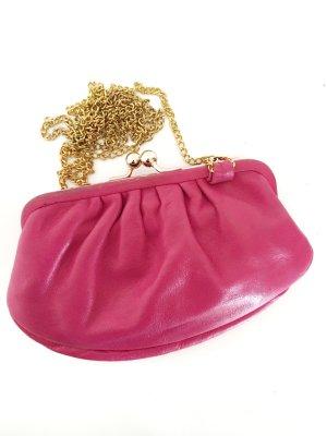 Borsa a spalla rosa-oro