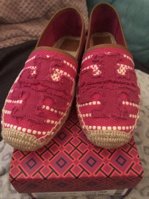 Tory Burch Espadrille Sandals magenta-white