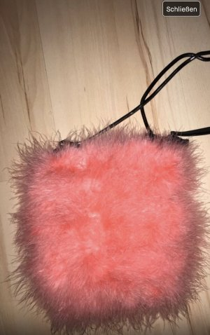 Pinke Flauschtasche von Topshop