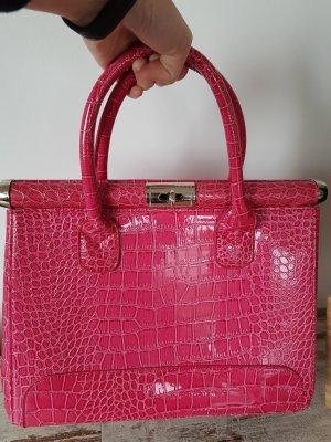Pinke Handtasche neu krokooptik