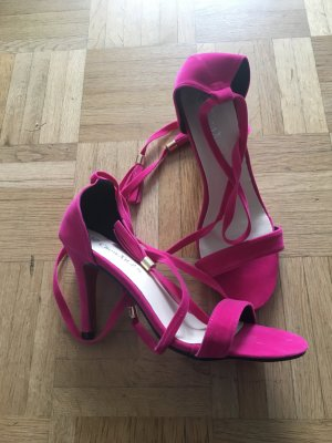 High-Heeled Sandals pink-brick red
