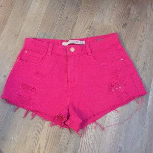 Pinke high waist hotpants von zara Jeans used look