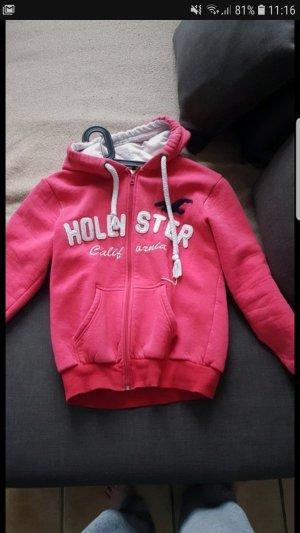 Hollister Vestido de tela de sudadera rojo frambuesa