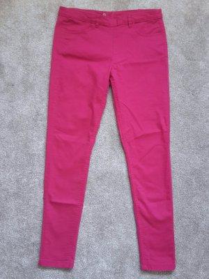 H&M Stretch broek framboosrood Katoen