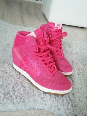 Pinke Keilabsatz Sneaker