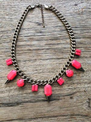 Collar color oro-rosa neón