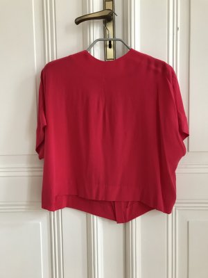 Pinke kurzärmlige Bluse aus Seide von COS in Größe 34