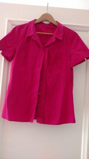 Pinke Kurzarm Bluse von HUGO BOSS, Gr 38
