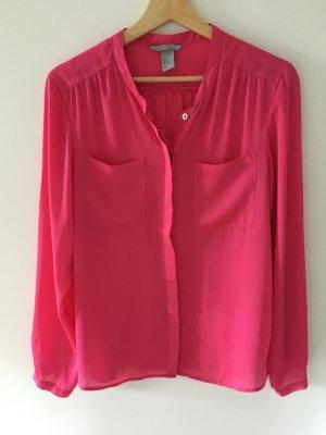 Pinke Langärmelige Bluse