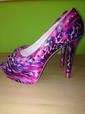 Pinke/lila high heels mit nieten