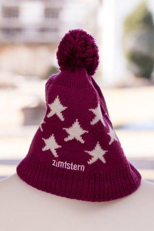 Zimtstern Gebreide Muts roze-violet