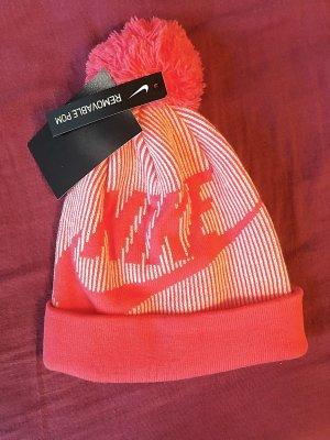 Pinke neue Nike Bommel Mütze
