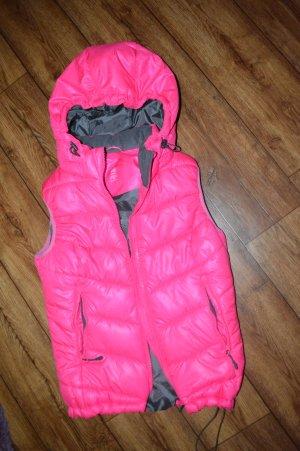 Pinke Outdoor Steppweste von H&M Sport Gr. 36