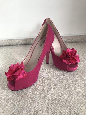 Buffalo girl Peep Toe Pumps pink-magenta