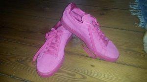 Pinke Puma Sneaker, echtes Leder