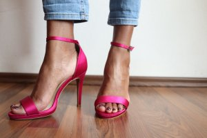 Another A High Heels raspberry-red