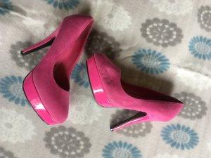 Tacones altos rosa-rosa neón