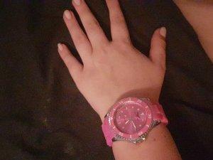 Pinke Quartz Damenuhr Armbanduhr von Eagl Time