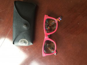 Pinke Ray Ban Sonnenbrille