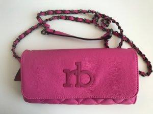 pinke roccobarocco Handtasche bzw. Clutch aus Leder