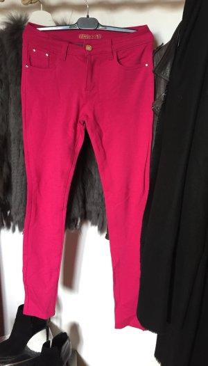 Pinke schmalgeschnittene Hose