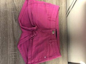 Pantalón corto de tela vaquera rosa