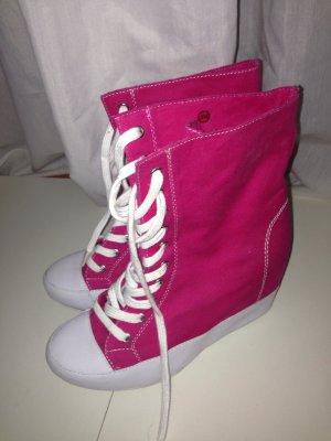 Pinke Sneaker Wedges