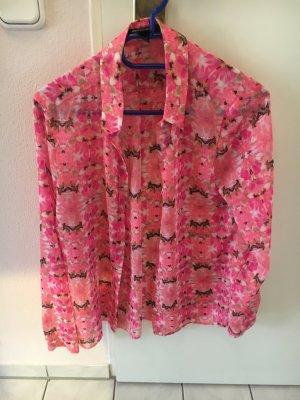 Pinke Sommer Bluse Mango