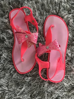 Toe-Post sandals neon pink-pink