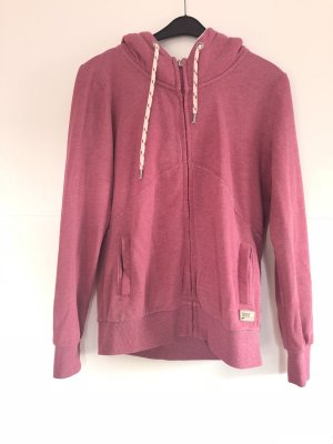 Pinke Sweatshirtjacke - Only - Fellkapuze