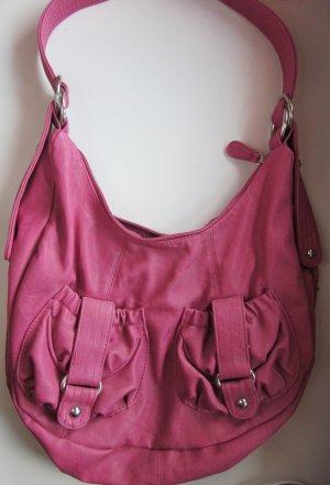 Pinke Tasche aus Lederimitat