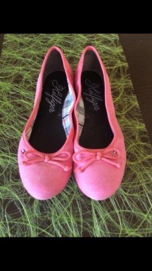 Pinke Tommy Hilfiger Ballerinas