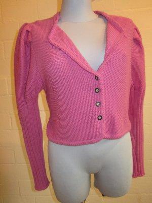 Pinke Trachtenjacke aus reiner Schurwolle, NEU, Gr. 42