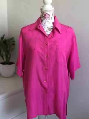 Pinke Vintage Seidenbluse/ Bluse aus Seide