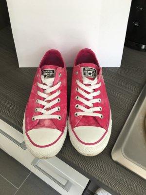 Pinke/ Weiß melierte Converse low