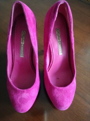 pinke Wildleder Pumps von Buffalo