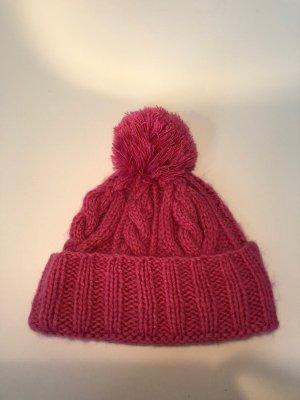 Asos Gebreide Muts roze-neonroos