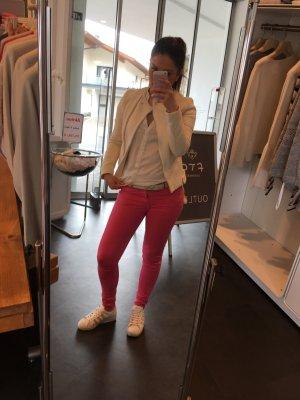 Zara Basic Hoge taille jeans roze-goud