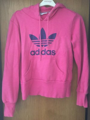 Pinker Adidas Pulli mit lilafarbener Aufschrift