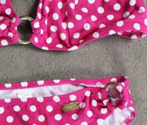pinker Bikini mit Punkten