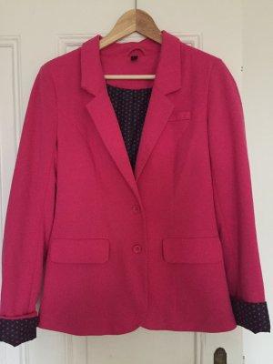 pinker Blazer aus weichem Stoff