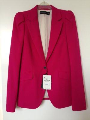 Pinker Blazer mit Puffärmel von Zara