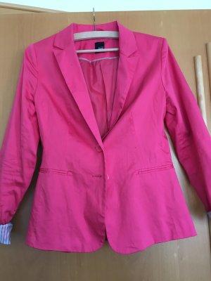 Pinker Blazer mit zwei Knöpfen