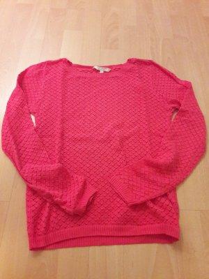 pinker dünner Pullover